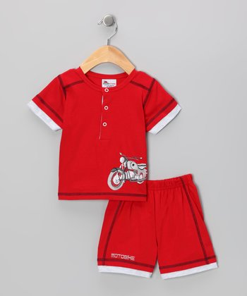 Red Motorcycle Tee & Shorts - Infant & Toddler