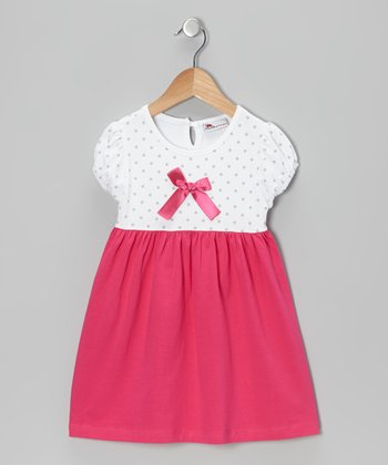 Pink Bow Dress - Infant & Toddler