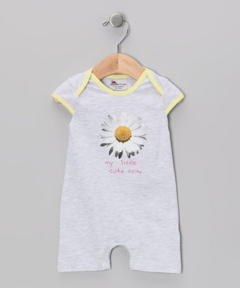 Gray Flower Romper - Infant