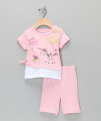 Pink Unicorn Tee & Shorts - Infant & Toddler
