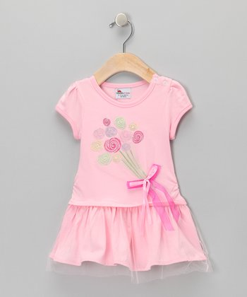 Pink Balloons Dress - Infant