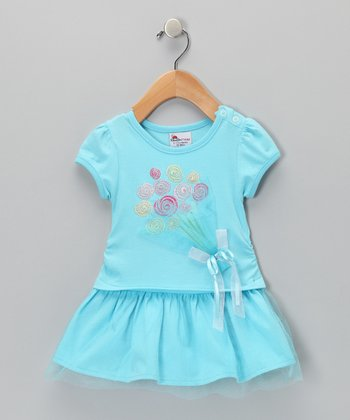 Blue Balloons Dress - Infant