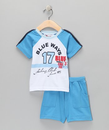 Blue 'Blue Ways' Tee & Shorts - Infant & Toddler