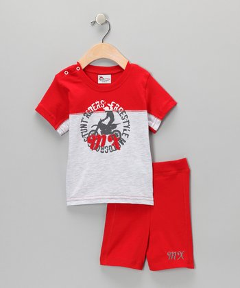 Red Tee & Shorts - Infant & Toddler