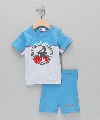 Dark Blue Tee & Shorts - Infant & Toddler