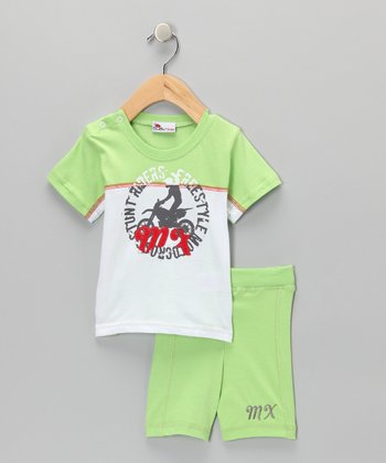 Green Tee & Shorts - Infant & Toddler