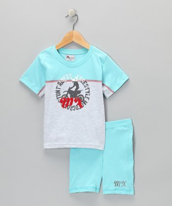 Blue Tee & Shorts - Infant & Toddler