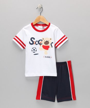 White Tee & Shorts - Infant & Toddler