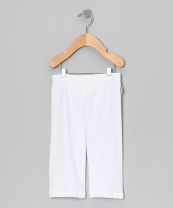 White Giggle Pose Pants - Infant