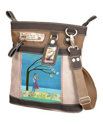 Sherpani Brown & Beige Never Let You Go Luna Crossbody Bag