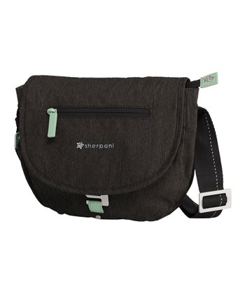 Heathered Black Milli Messenger Bag