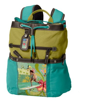Aqua & Lime Surfer Girl Sonoma Backpack