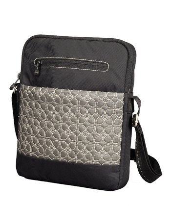 Pewter & Black App Tablet Crossbody Bag