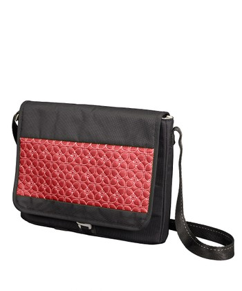 Sangria & Black Ion Messenger Bag