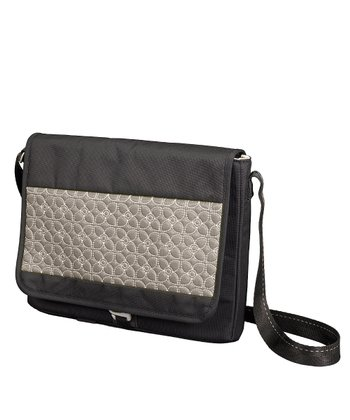 Pewter & Black Ion Messenger Bag