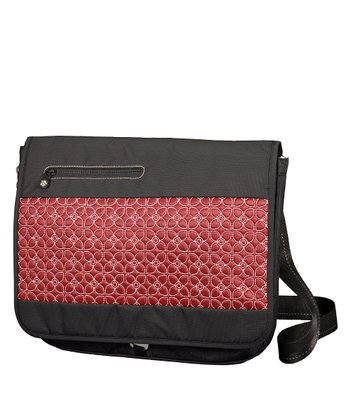 Sangria & Black Nyx Laptop Messenger Bag