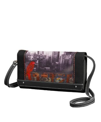 Black & Red Color My World Raven Crossbody Bag