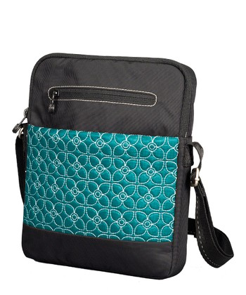 Jade & Black App Tablet Crossbody Bag