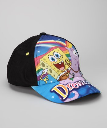 Black Rainbow SpongeBob Baseball Cap