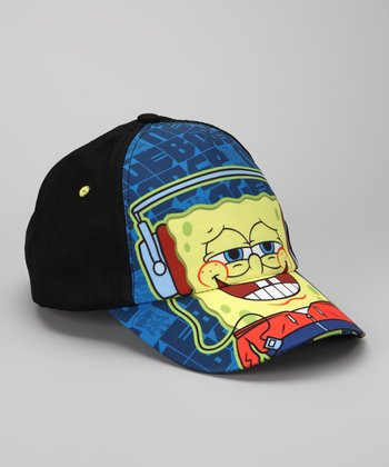 Black & Blue SpongeBob Smile Baseball Cap