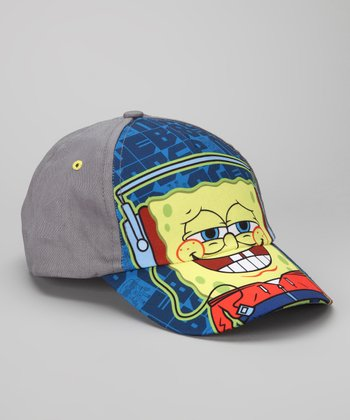 Gray & Blue SpongeBob Smile Baseball Cap