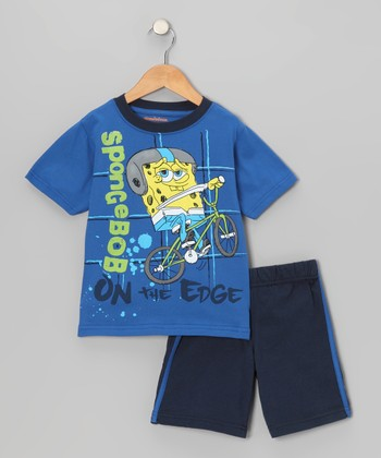 Blue 'On the Edge' Tee & Shorts - Toddler