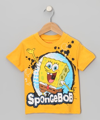 Mustard 'SpongeBob' Splotch Tee - Toddler