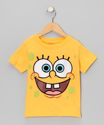 Yellow & Green Bubble SpongeBob Tee - Toddler