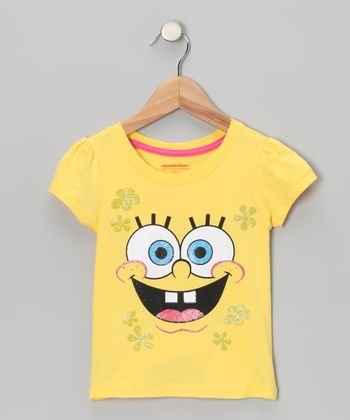 Yellow Bubble SpongeBob Tee - Toddler