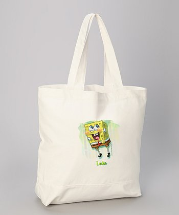 Smiley SpongBob Personalized Tote