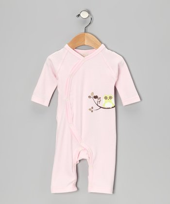 Pink Owl Organic Playsuit - Infant