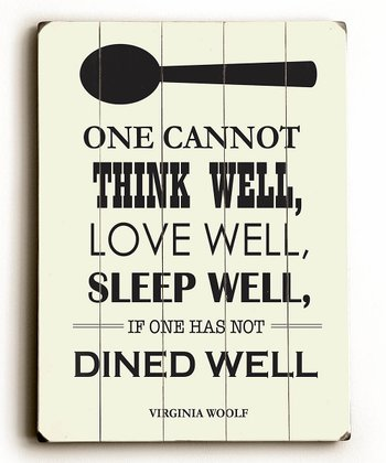 'Dine Well' Wood Wall Art