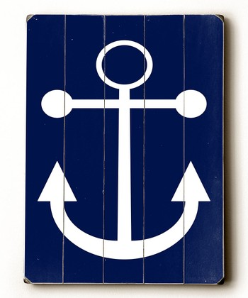 Navy Anchor Wall Art