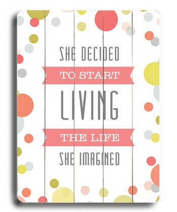 'She Decided To Start' Wall Art