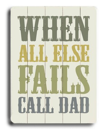 'Call Dad' Wall Art