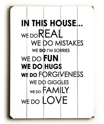 'In this House' Wall Art