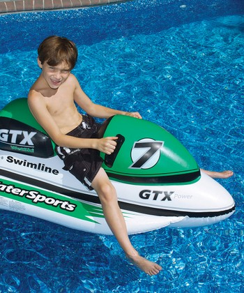 Green & White Water Bike Ride-On