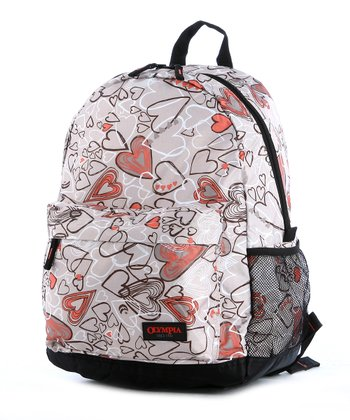 Beige Heart Bravo Backpack