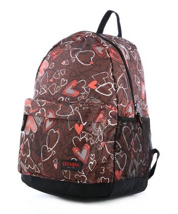 Brown Heart Bravo Backpack