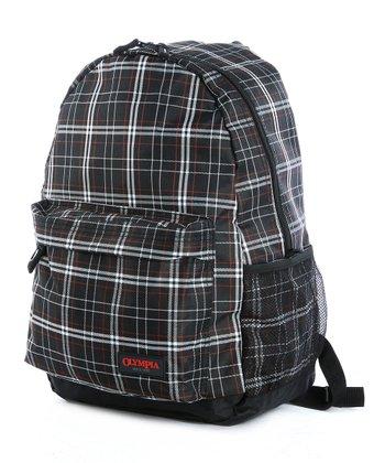 Black Plaid Bravo Backpack