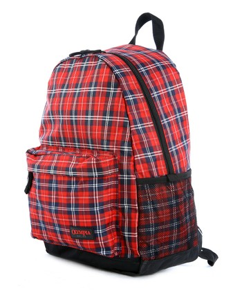 Red Plaid Bravo Backpack
