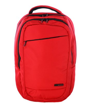 Red Boston Backpack