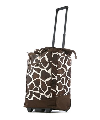 Giraffe Fashion Wheeled 30'' Shopper Tote