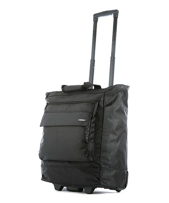 Black 21'' Heavy Duty Wheeled Shopper Tote