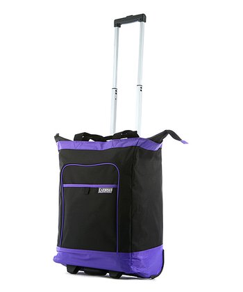 Purple 20'' Deluxe Wheeled Shopper Tote