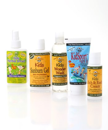 Natural Kids Sun & Bug Protection Set
