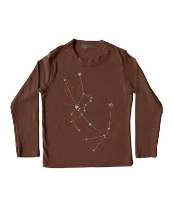 Brown Taurus Long-Sleeve Tee - Infant, Toddler & Kids