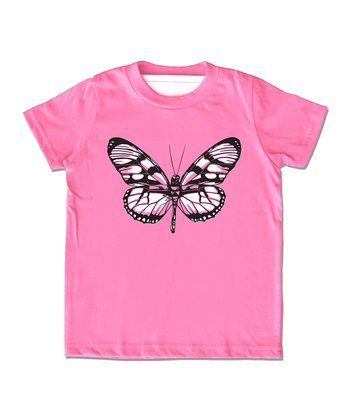 Pink Butterfly Tee - Toddler & Girls