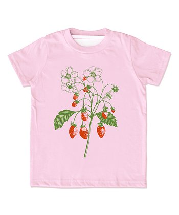 Pink Strawberry Organic Tee - Infant