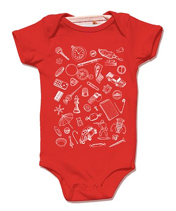 Red Small Things Organic Bodysuit - Infant
